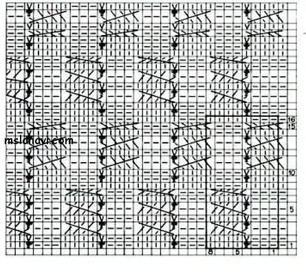 Рельефный-узор-спицами-схема-104 (445x396, 169Kb)