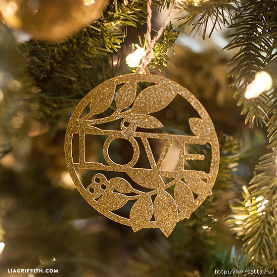 Золотые подвески для новогодней елочки (6) (560x560, 305Kb)