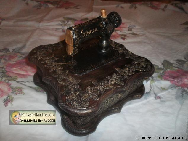 Шкатулка со швейной машинкой своими руками (2) (635x476, 136Kb)