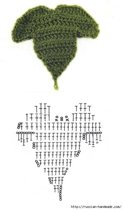 схемы листиков крючком (39) (411x700, 122Kb)