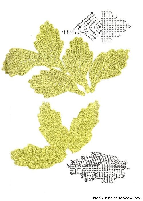 схемы листиков крючком (45) (499x700, 210Kb)