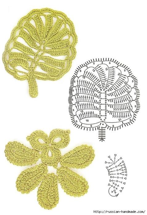схемы листиков крючком (72) (477x700, 235Kb)