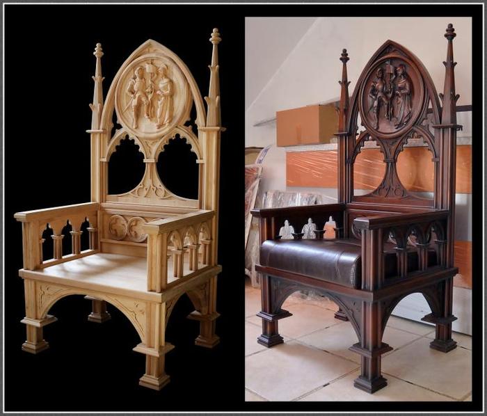 Мебель в средневековом стиле своими руками 59