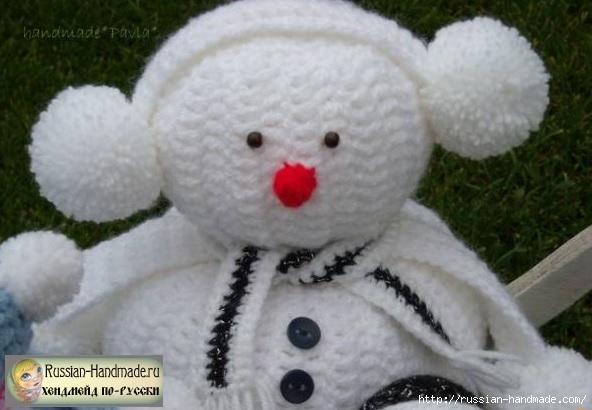 Вязание забавных снеговиков крючком (1) (592x410, 125Kb)