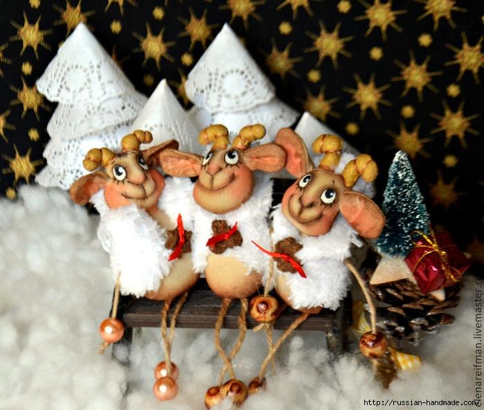 Новогодняя кофейная овечка - шьем сувенир к Новому году (1) (700x592, 324Kb)