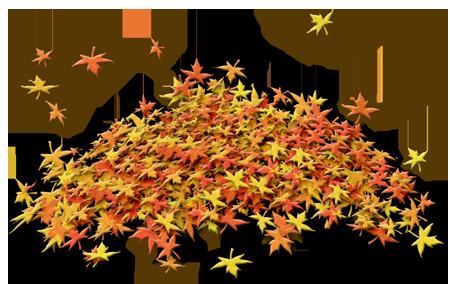 Картинки анимационные с осенними листьями