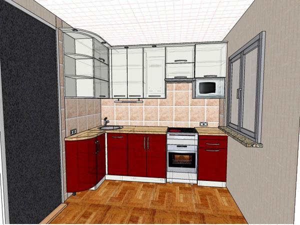 Кухни в хрущевках дизайн фото с газовой