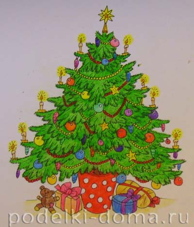 Мастер класс рисунок елка - Профессиональный ответ