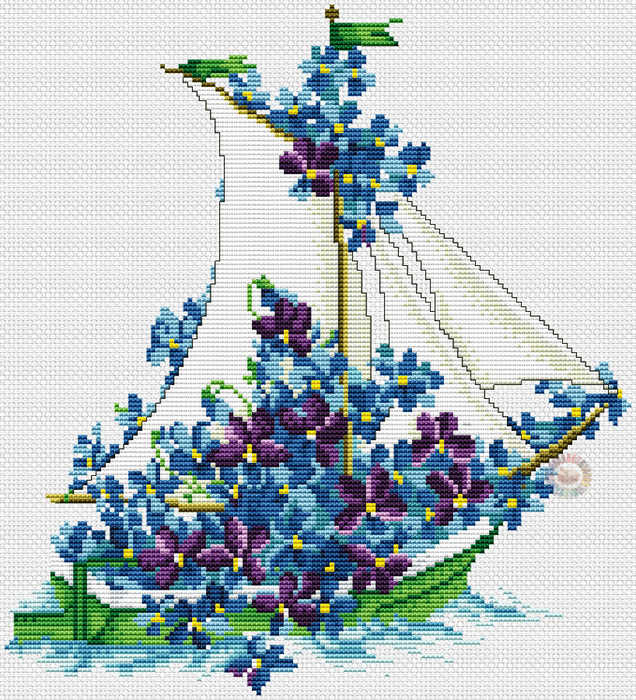 Flower Boat (636x700, 611Kb)