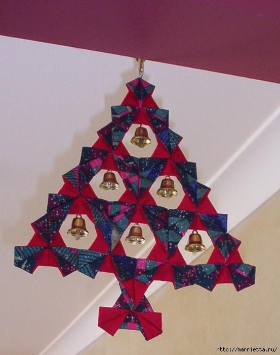текстильная подвеска елочка в технике оригами (1) (553x700, 274Kb)