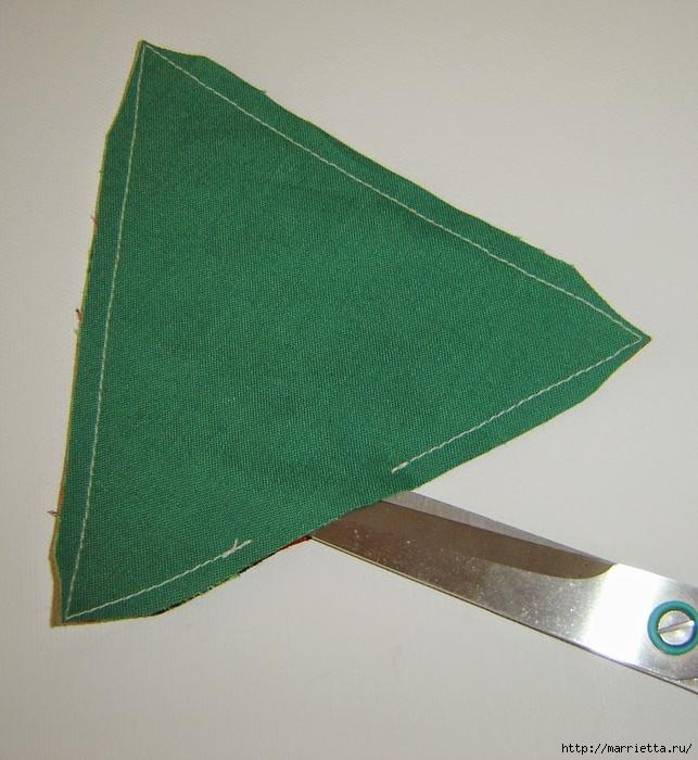 текстильная подвеска елочка в технике оригами (6) (643x700, 328Kb)