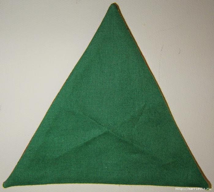 текстильная подвеска елочка в технике оригами (8) (700x628, 348Kb)