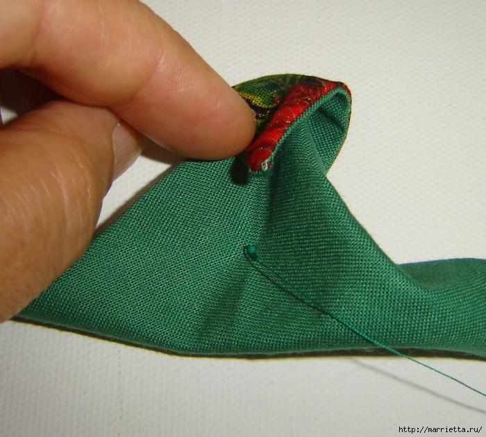 текстильная подвеска елочка в технике оригами (13) (700x630, 328Kb)