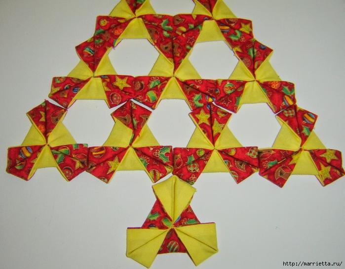текстильная подвеска елочка в технике оригами (16) (700x544, 281Kb)