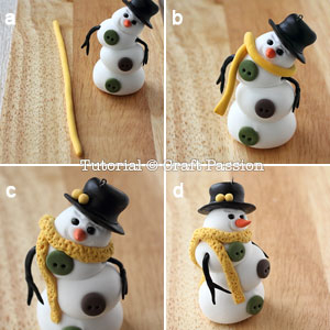 Веселый снеговик. Брелок для ключей из полимерной глины (10) (300x300, 79Kb)