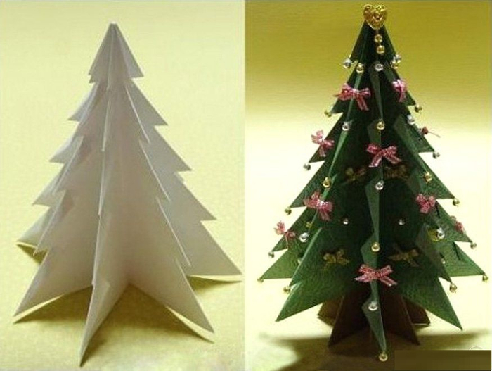 Новогодние елки своими руками фото из бумаги