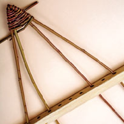 елочка плетеная интерьерная