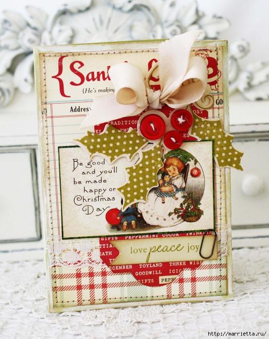 пуговицы для создания новогодних открыток и украшений (10) (554x700, 331Kb)