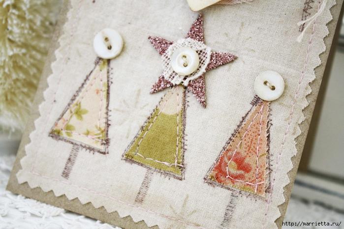 пуговицы для создания новогодних открыток и украшений (14) (700x466, 301Kb)