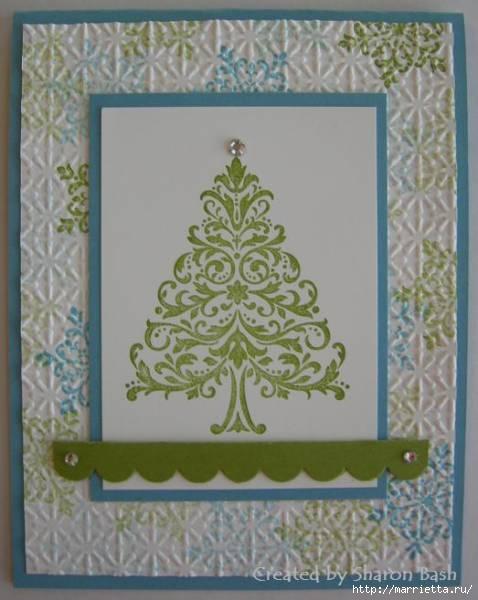 пуговицы для создания новогодних открыток и украшений (42) (478x600, 122Kb)