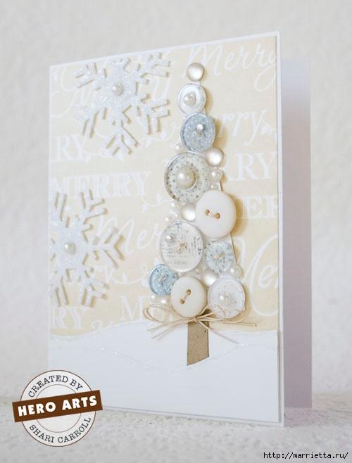 пуговицы для создания новогодних открыток и украшений (67) (500x658, 125Kb)