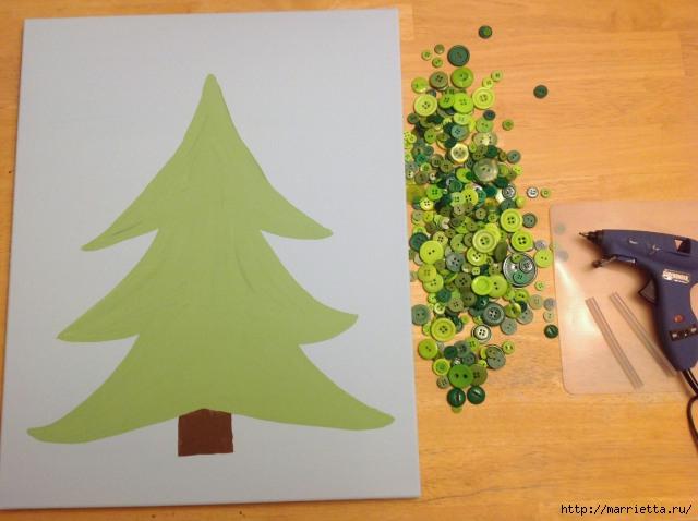 пуговицы для создания новогодних открыток и украшений (73) (640x478, 167Kb)