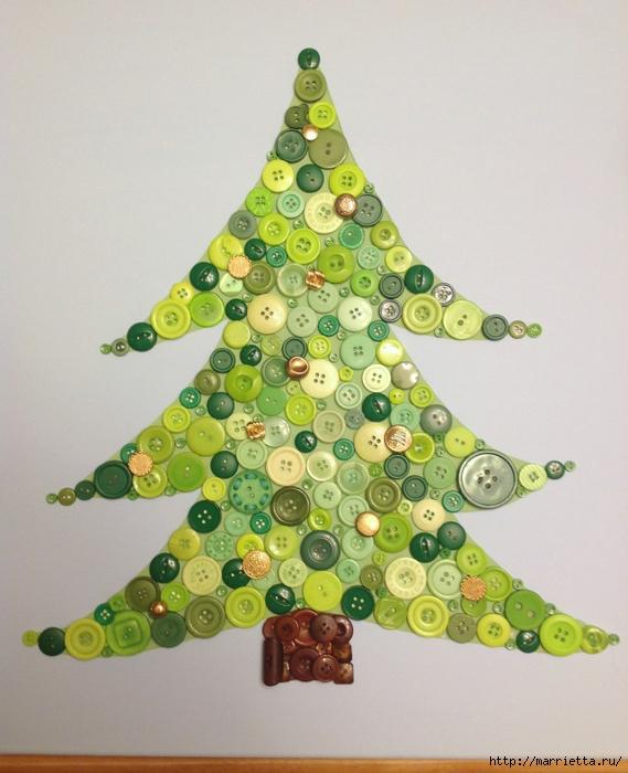 пуговицы для создания новогодних открыток и украшений (75) (569x700, 265Kb)