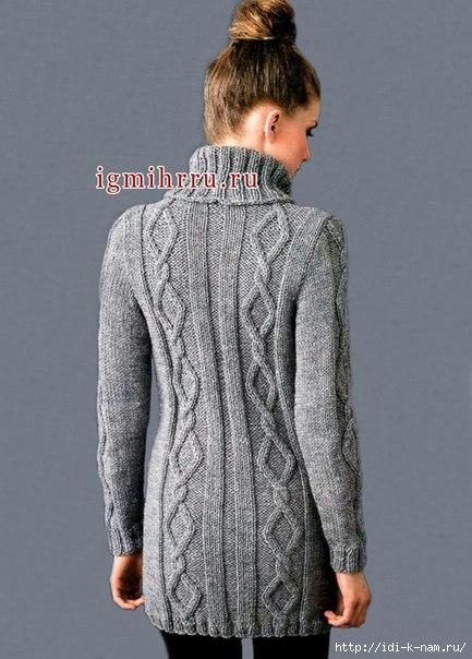 как связать свитер с объемными аранами, схема вязания свитера с объемными аранами, как связать теплый свитер Хьюго Пьюго,