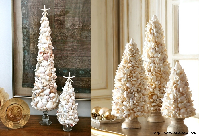 artificial Christmas trees -Seashell Christmas trees, Shell Christmas trees (700x477, 280Kb)