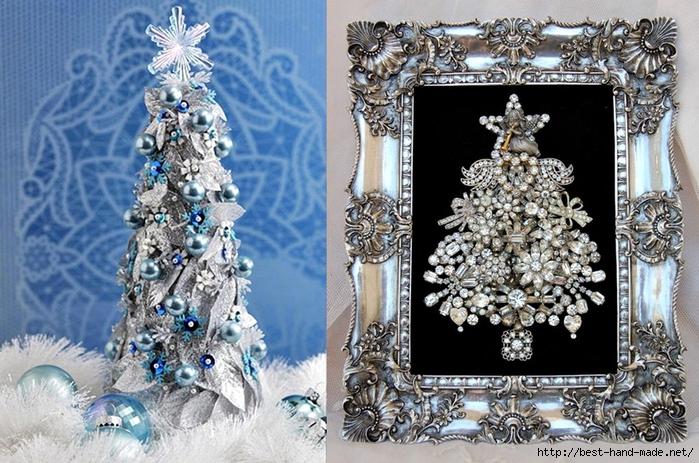 Christmas tree decorations, Framed Jewelry Christmas Tree  (700x463, 323Kb)