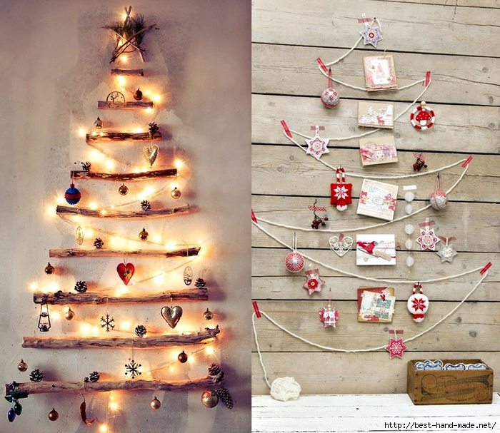 Christmas tree lights, christmas decorating ideas, string Christmas tree  (700x607, 354Kb)
