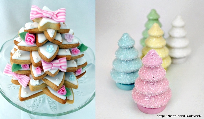 Christmas tree photos - sweet Christmas cookies trees (700x408, 195Kb)