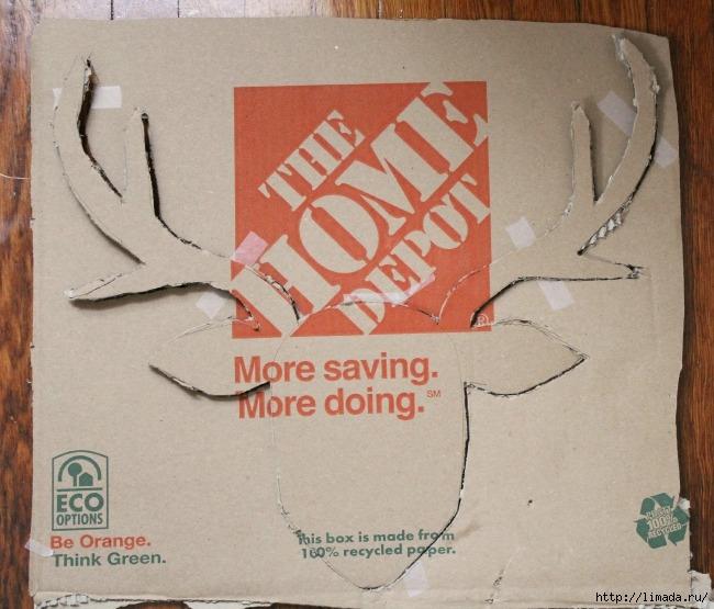 stag head cardboard (650x555, 220Kb)