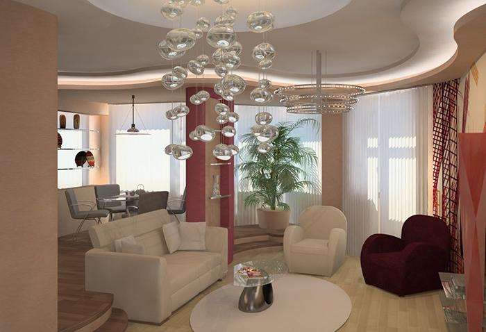 Все о стиле хай-тек в гостиной комнате (2) (700x478, 250Kb)