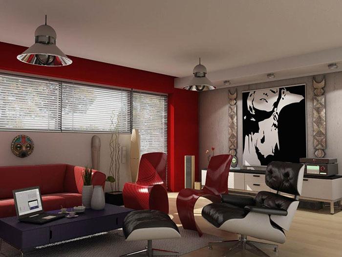 Все о стиле хай-тек в гостиной комнате (8) (700x525, 193Kb)