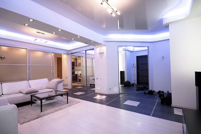 Все о стиле хай-тек в гостиной комнате (10) (700x466, 236Kb)