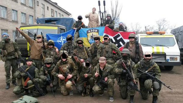 Картинки по запросу украинские нацисты с фашистской эмблемой стреляют