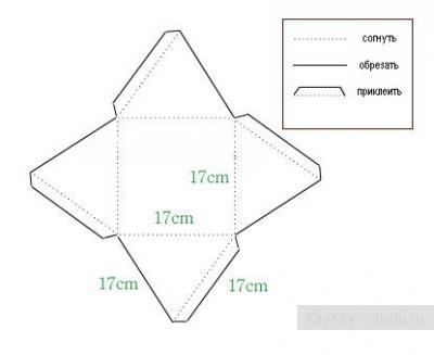коробочки для подарков шаблон 11 (400x327, 27Kb)