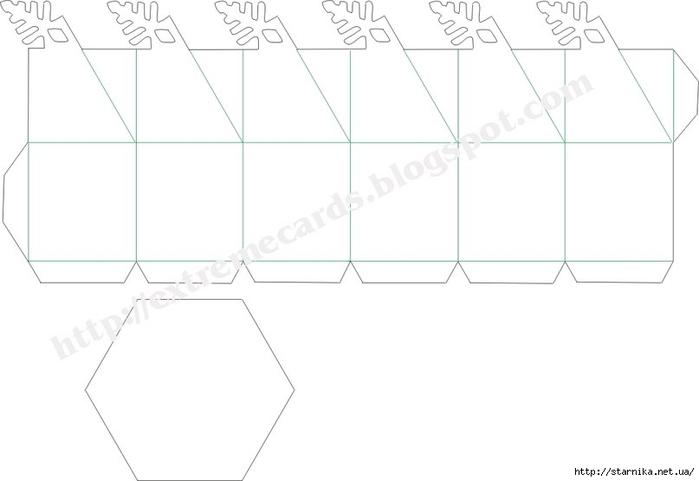 коробочки для подарков шаблон 20 (700x481, 67Kb)