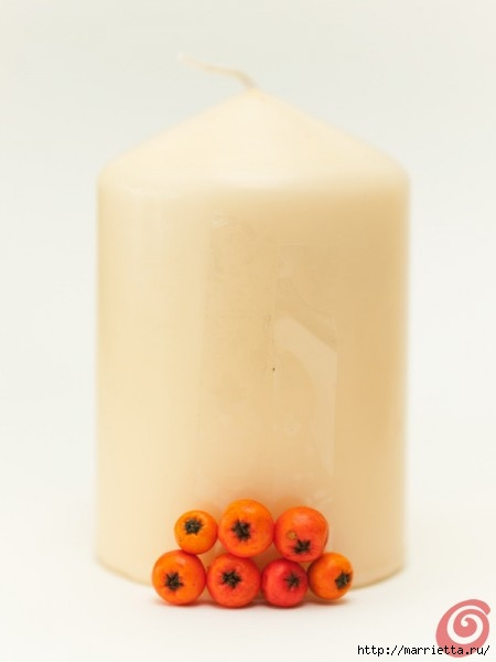 Декорируем свечи осенними дарами природы (9) (450x600, 55Kb)