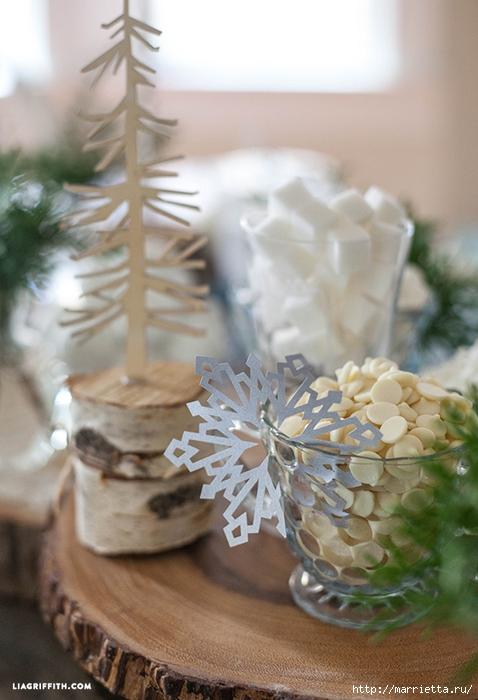 Снежинки из бумаги в новогоднем интерьере (1) (478x700, 230Kb)