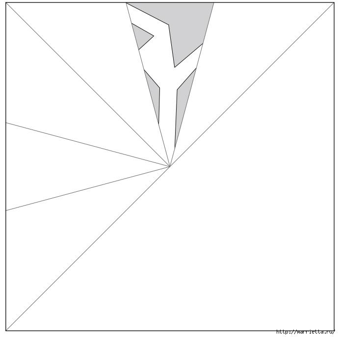 шаблоны снежинок из бумаги (2) (689x687, 51Kb)