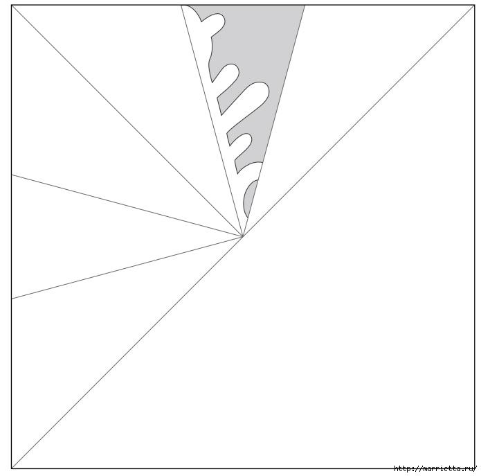шаблоны снежинок из бумаги (3) (695x687, 55Kb)