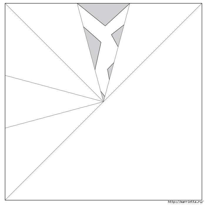 шаблоны снежинок из бумаги (5) (697x697, 55Kb)