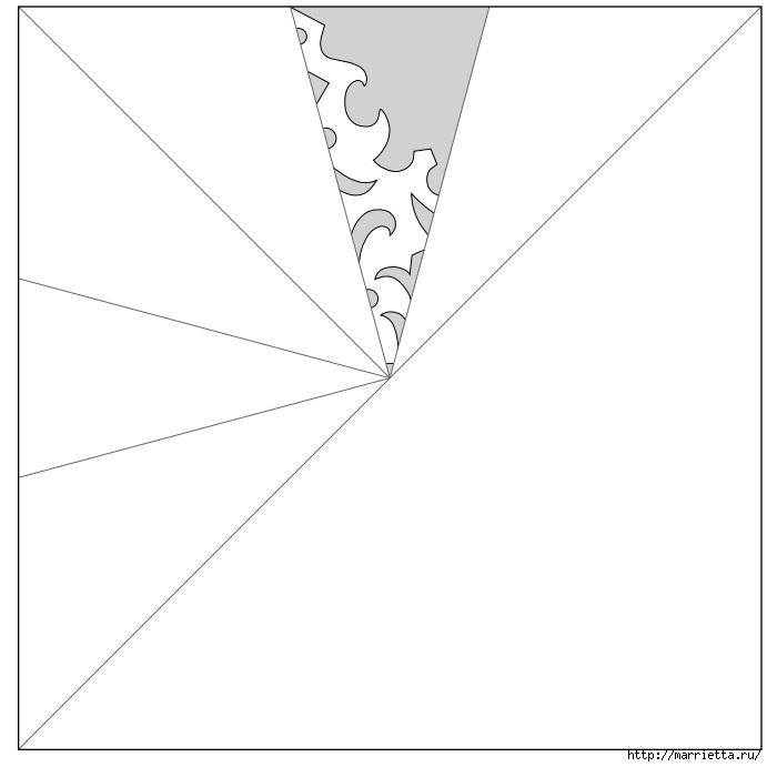 шаблоны снежинок из бумаги (6) (691x691, 58Kb)
