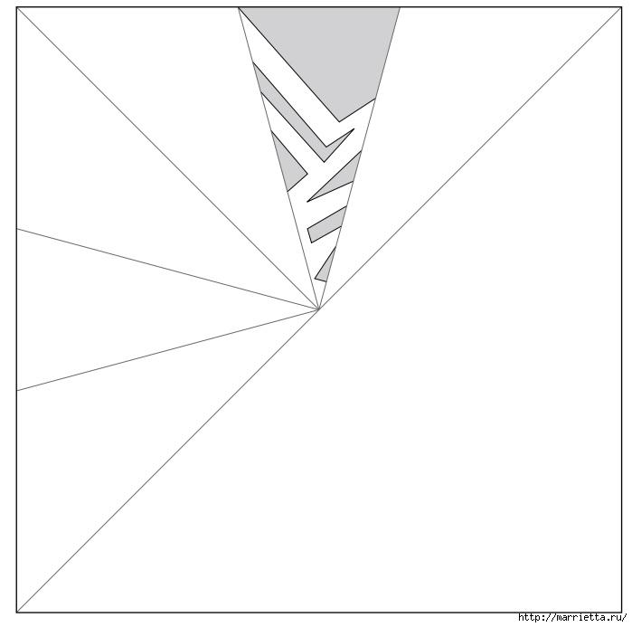 шаблоны снежинок из бумаги (8) (699x693, 60Kb)