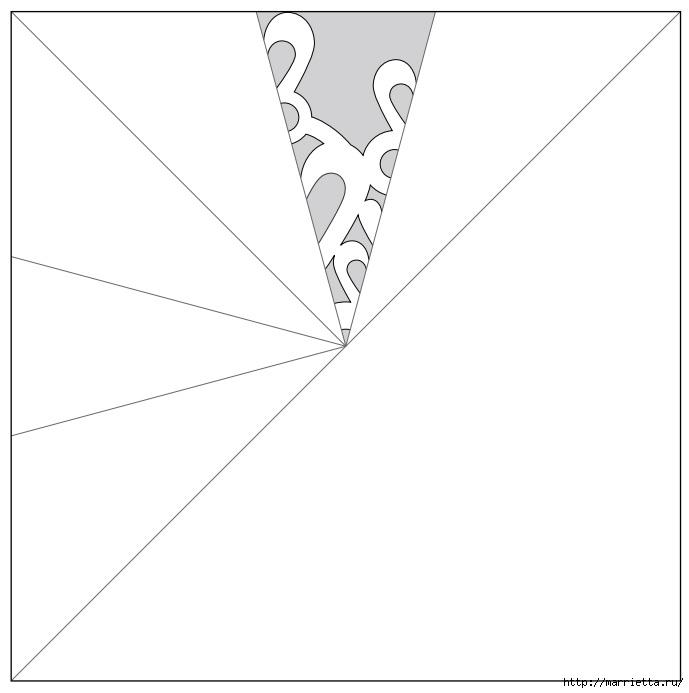 шаблоны снежинок из бумаги (10) (689x693, 60Kb)