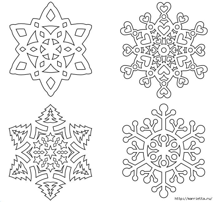 шаблоны снежинок из бумаги (13) (685x645, 237Kb)