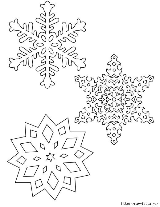 шаблоны снежинок из бумаги (17) (519x673, 140Kb)