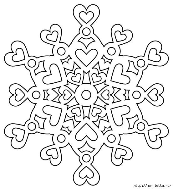 шаблоны снежинок из бумаги (21) (553x601, 165Kb)